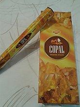 SAC Incienso Copal, 6 paquetes de 20 varillas c/u.