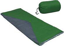 Saco de dormir de sobre ligero verde 1100 g 10°C