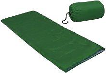 Saco de dormir ligero para niños con sobre verde