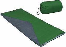 Sacos de dormir de sobre ligero 2 piezas verde