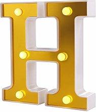 Samapete Luces de letras LED Golden 26 Alphabet