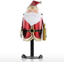 Santa Claus estante del vino hecho a mano de metal