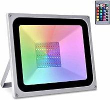 Sararoom 100W Focos Led exterior,IP65 RGB Foco