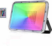 Sararoom 50W Foco LED RGB de Exterior, 16 Colores