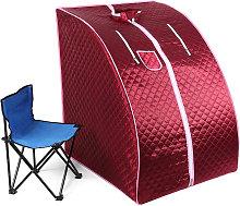 Sauna infrarroja plegable roja, cabina de calor,