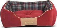 Scruffs Cama para mascotas Highland rojo M