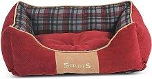 Scruffs Cama para mascotas Highland rojo S