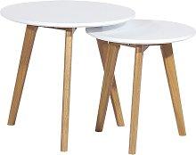 SDM - Mesa ACCRA, - nido -, 2 mesas, baja, madera,