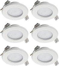 SEBSON® 6x LED Foco empotrable para baño (IP44),