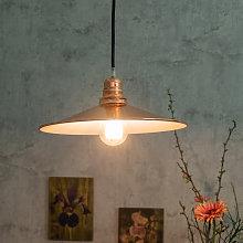 SEGULA Concav lámpara colgante de metal, cobre