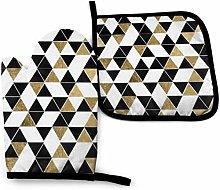 Seiobax Negro Blanco Oro Triángulos Color