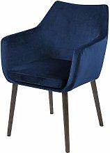 Selsey Silla tapizada, Azul Oscuro/marrón, 84 x