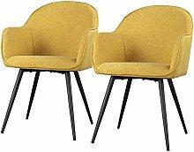 Selsey Silla tapizada, Color Amarillo Miel, 57 x