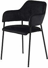 Selsey Silla tapizada, Negro, 82 x 54 x 55