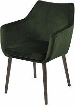 Selsey Silla tapizada, Verde y marrón, 84 x 58 x