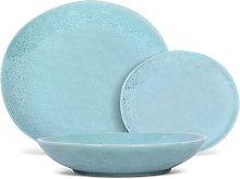 Servicio de vajilla SIA de loza OLGA - 12 piezas - Azul claro
