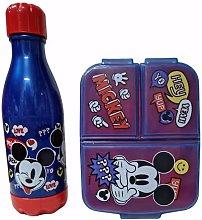 Set 1 Botella de Agua Infantil con Fiambrera