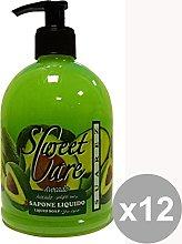 Set 12 Sweet Care jabón líquido aguacate oliva