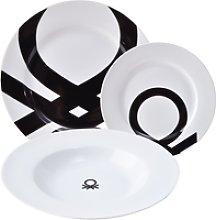 Set 18Pcs Vajilla Porcelana Diseño Logo Estampado