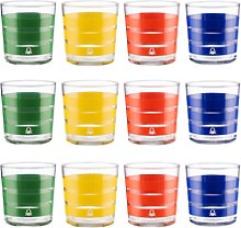 Set Cristalería 12 Piezas De Vasos De Vidrio,