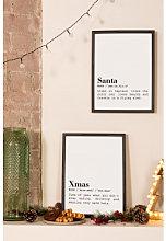 Set de 2 Láminas Decorativas de Navidad (30x40