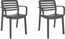 set de 2 sillas con brazos de diseño Wind para
