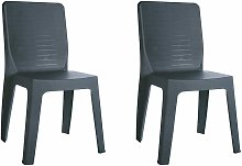set de 2 sillas de diseño Iris para interior,