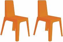 set de 2 sillas de diseño Julia para interior,