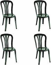set de 2 sillas de jardín exterior Garrotxa -