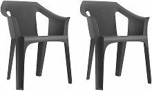 set de 2 sillones de jardín exterior Cool - color