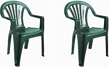set de 2 sillones de jardín exterior Nuevo Pals -