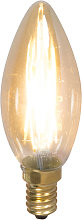 Set de 3 bombillas vela filamento LED regulables