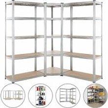 Set de 3 estanterías 1 de esquina para taller