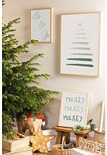 Set de 3 Láminas Decorativas de Navidad (50x70 y