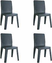 set de 4 sillas de diseño Iris para interior,