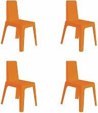 set de 4 sillas de diseño Julia para interior,