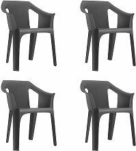 set de 4 sillones de jardín exterior Cool - color