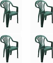 set de 4 sillones de jardín exterior Nuevo Pals -