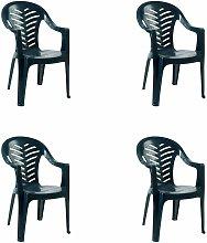 set de 4 sillones de jardín exterior Palma -
