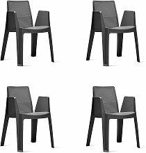 set de 4 sillones de jardín exterior Play - color