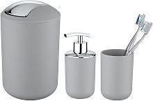 Set de accesorios de baño Brasil gris