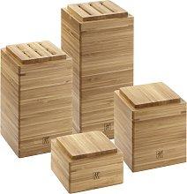 Set de almacenamiento de madera de bambú 4 piezas