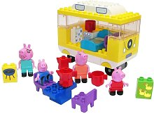 Set de furgoneta camper Bloxx Peppa Pig 54 piezas