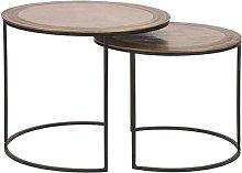 Set de mesas de centro 2 piezas Circle