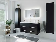 Set de mueble de baño Helios Negro satinado con