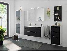 Set de mueble de baño SANTINI 5 Partes Negro