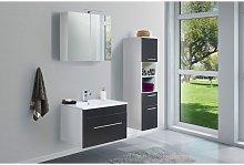 Set de mueble de baño SANTINI 75 3 Partes Negro