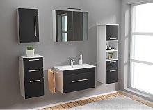 Set de mueble de baño SANTINI 75 5 Partes Negro