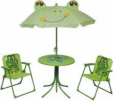 set mesa y sillas de jardín infantil 3 pzas con