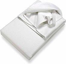 Setex Molleton, Protector de colchón, Blanco, 120